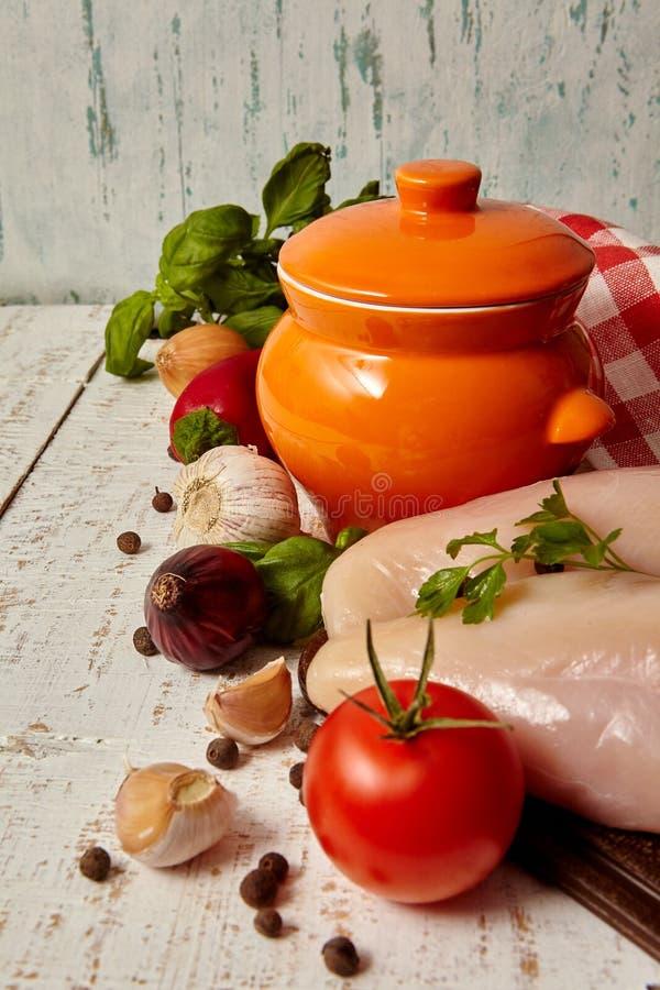 Ingrédient pour la soupe photo libre de droits