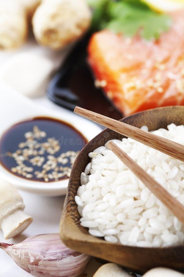 Ingrédients asiatiques traditionnels photo libre de droits