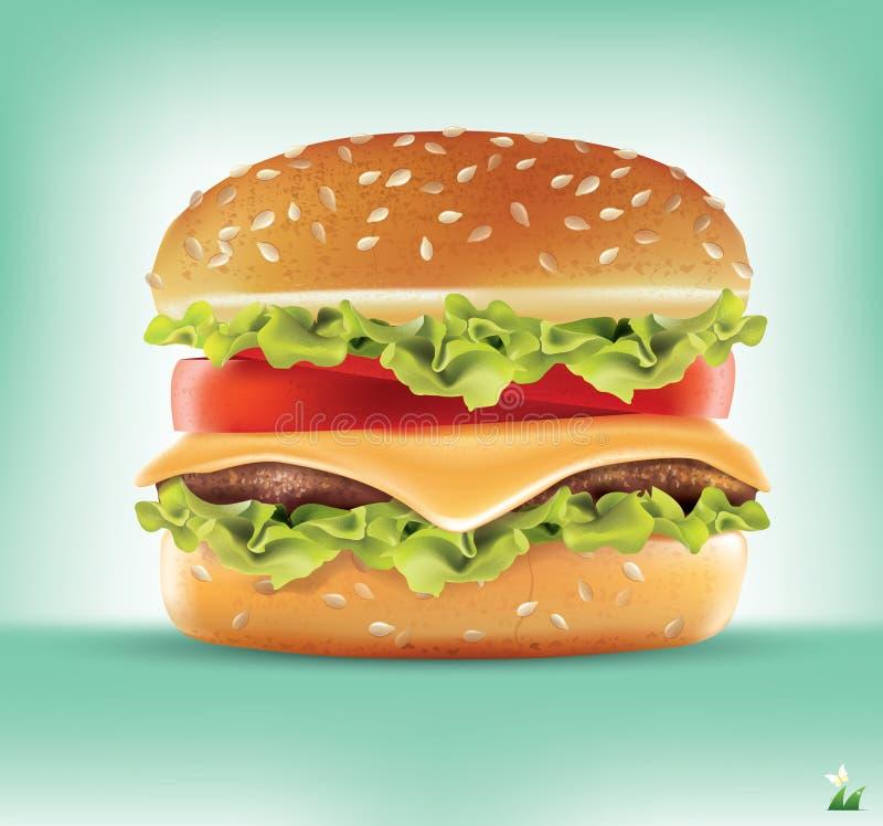 Ingrédients d'hamburger Infographics de vecteur photo stock