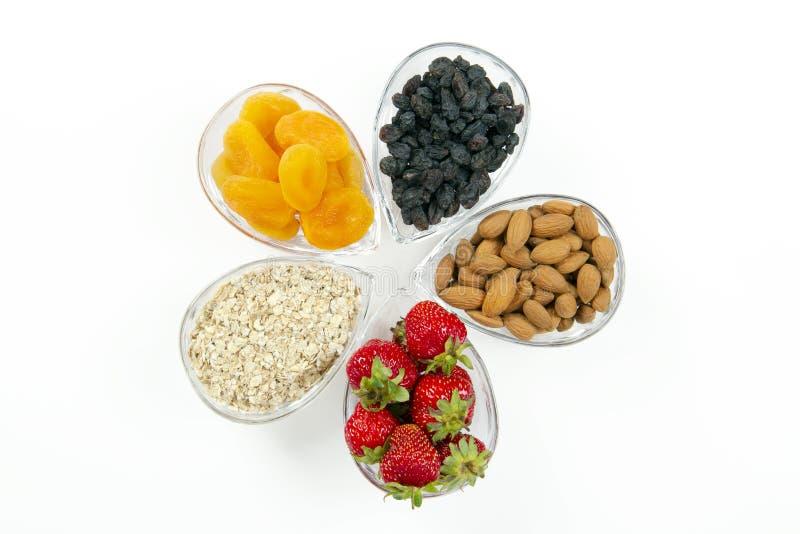Ingrédients de déjeuner de matin photo stock