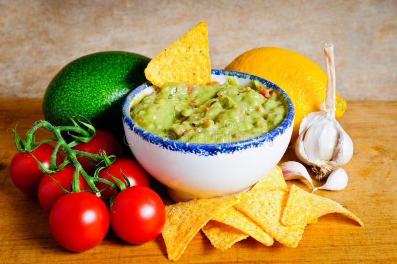 Ingrédients de guacamole images libres de droits