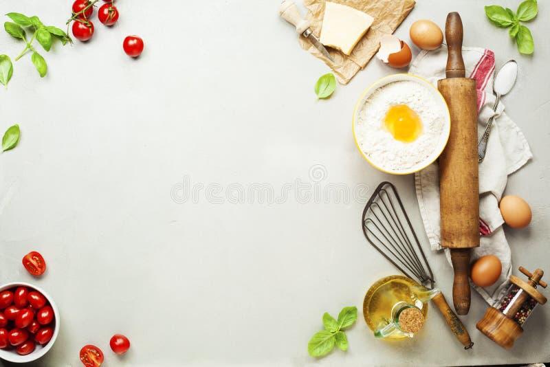 Ingrédients de nourriture fraîche pour la cuisine italienne photo libre de droits