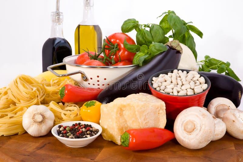 Ingrédients de nourriture italiens images libres de droits