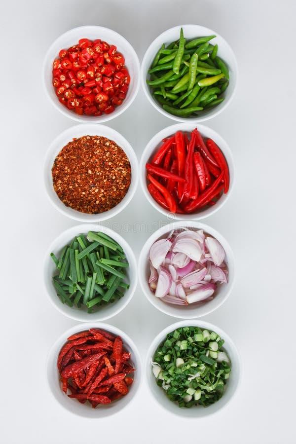 Ingrédients de nourriture thaïs image stock