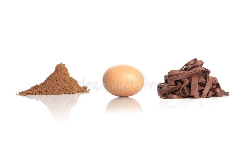 Ingrédients de pâtes de cacao photos libres de droits