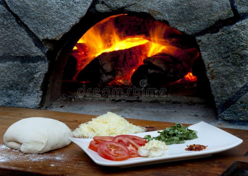 Ingrédients de pizza images stock