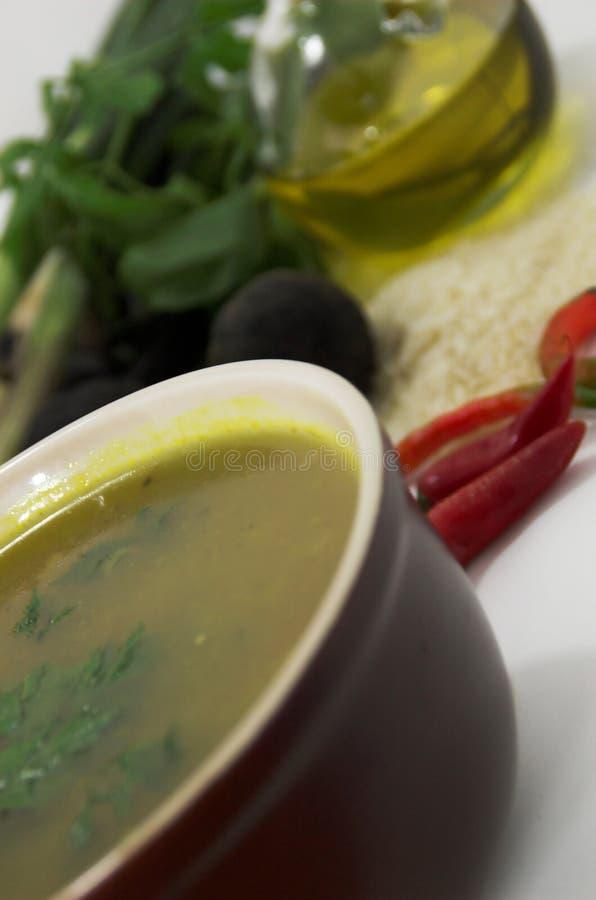 Ingrédients de potage photographie stock