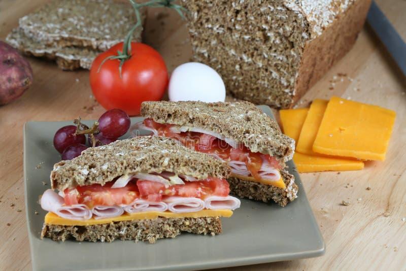 Ingrédients de sandwich et de nourriture photos stock