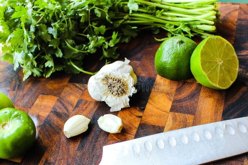 Ingrédients de Verde de Salsa photo libre de droits