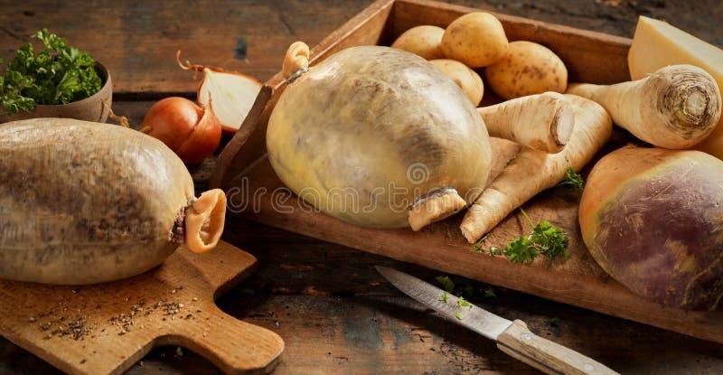Ingrédients frais pour un repas traditionnel de haggis photographie stock libre de droits