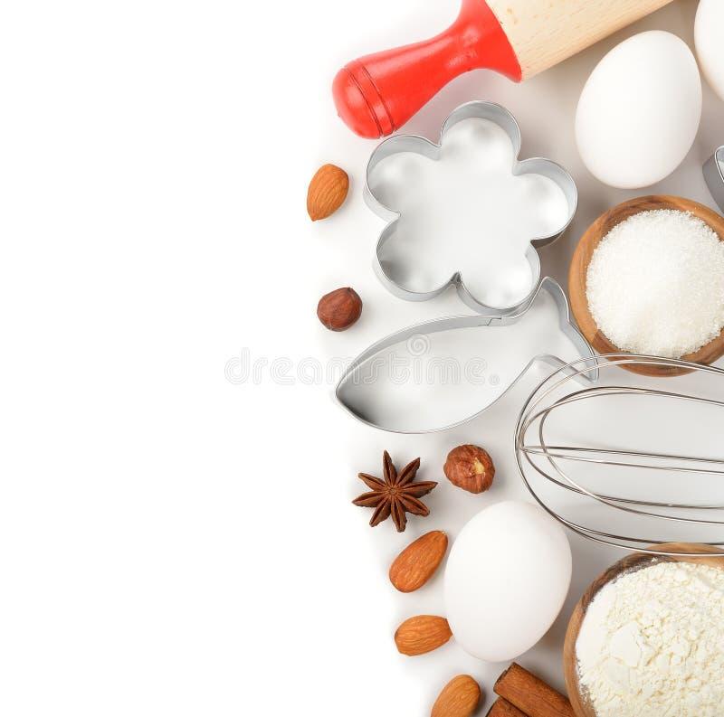 Ingrédients pour la cuisson photographie stock
