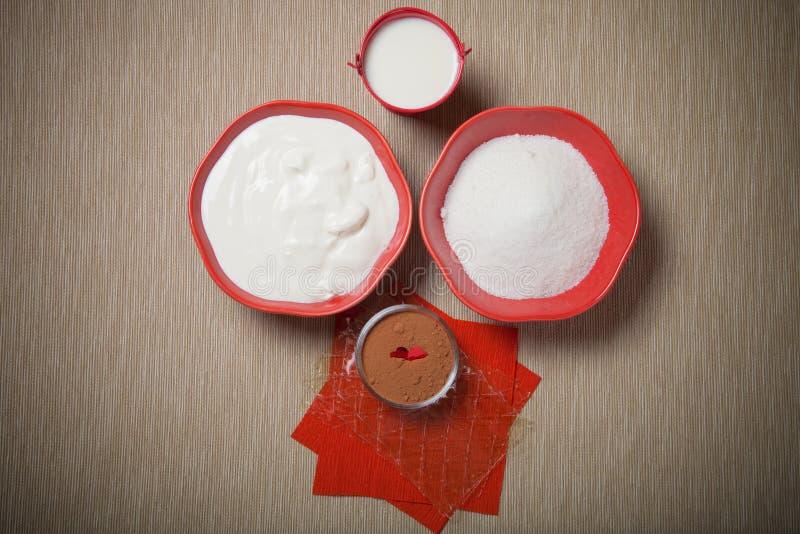 Ingrédients pour une pâtisserie douce toned image libre de droits