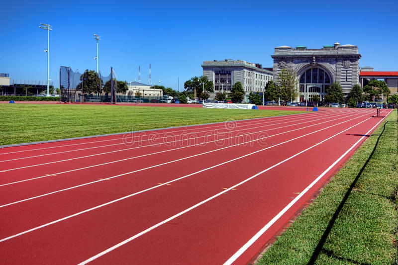 Ingram Field Athletic Field Track at Naval Academy royalty free stock photos