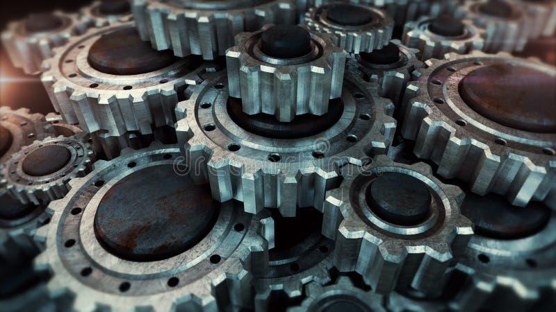 Ingranaggi del metallo di lerciume fotografia stock libera da diritti