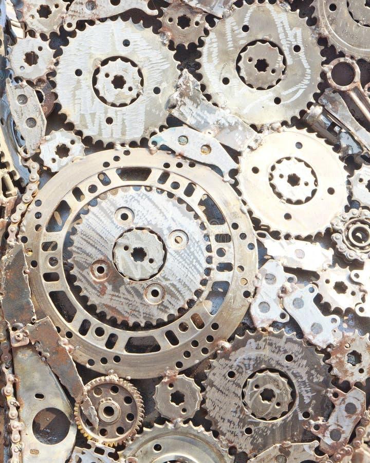 ingranaggi di collegamento del metallo immagini stock libere da diritti