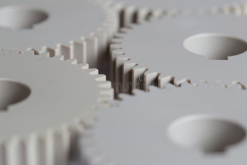 Ingranaggi industriali della plastica immagini stock libere da diritti