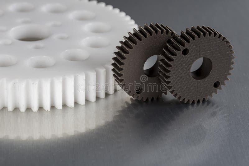 Ingranaggi industriali fatti dalla plastica fotografie stock libere da diritti