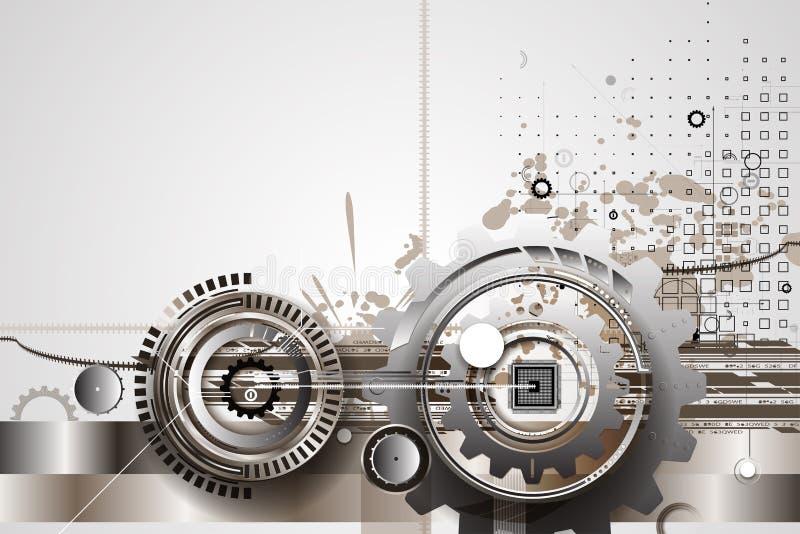 Ingranaggi a macchina di tecnologia retro bacground del meccanismo della ruota dentata royalty illustrazione gratis