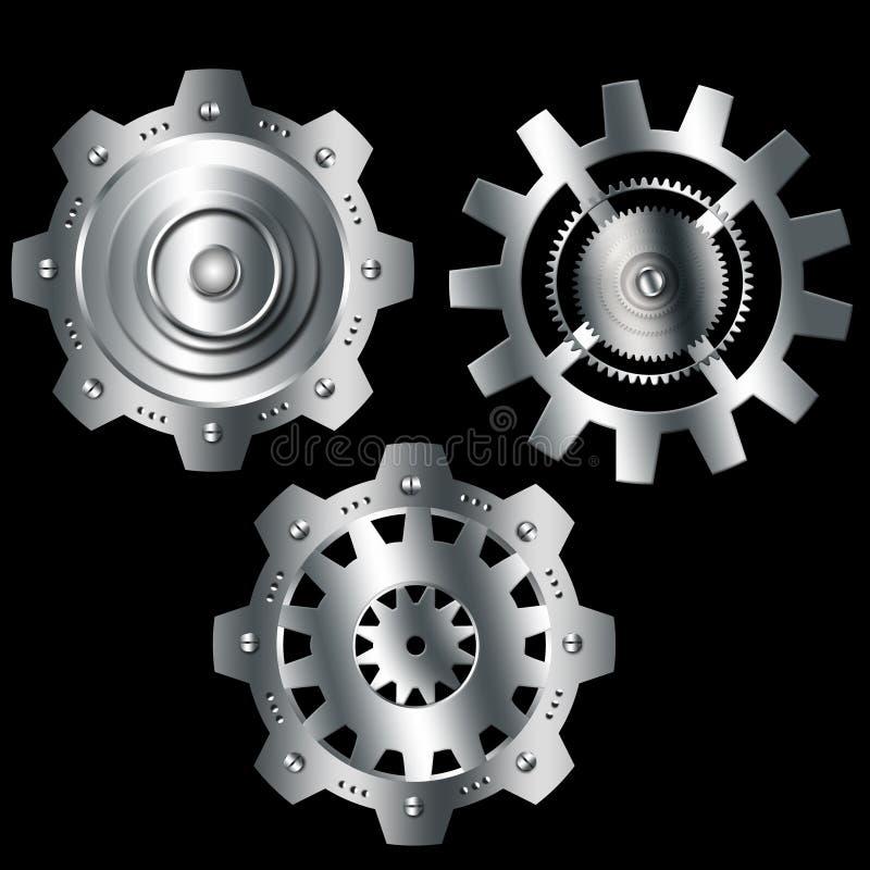 Download Ingranaggi Metallici Dell'argento Del Cromo Del Fondo Astratto Illustrazione di Stock - Illustrazione di meccanismo, disegno: 55359349