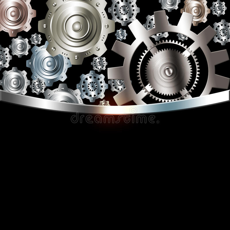 Download Ingranaggi Metallici Dell'argento Del Cromo Del Fondo Astratto Illustrazione di Stock - Illustrazione di macchinario, industria: 55359384