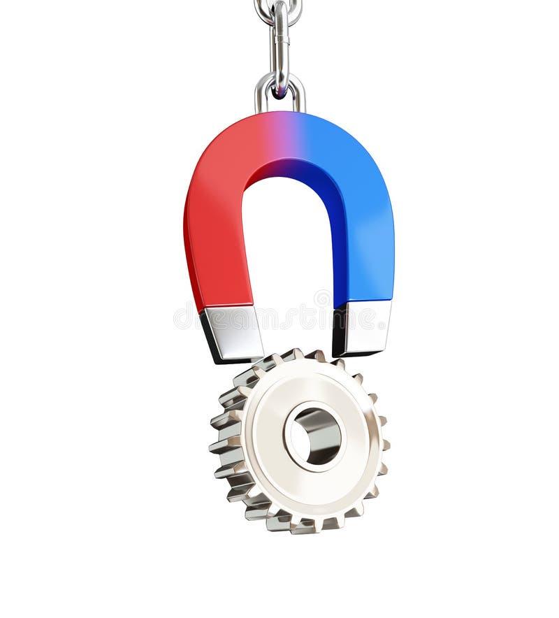 Ingranaggio del magnete illustrazione di stock