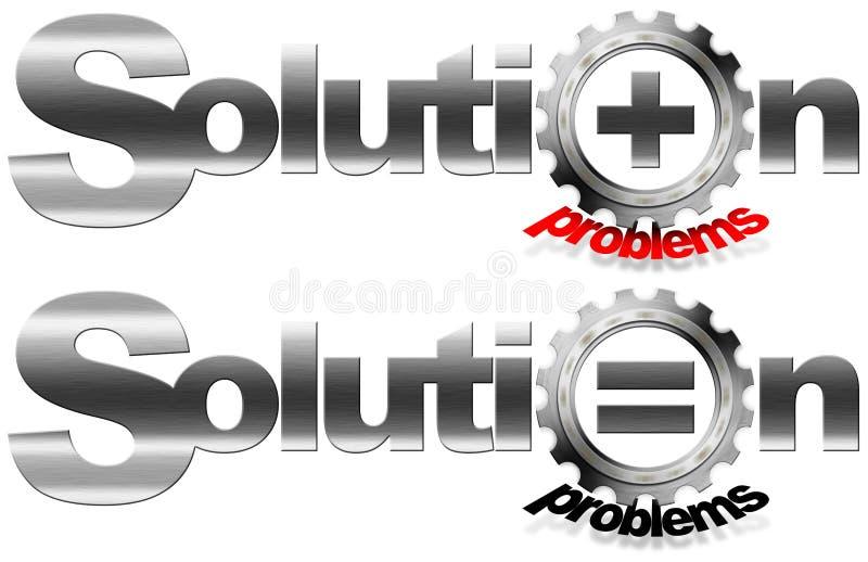 Ingranaggio del metallo di problemi e della soluzione royalty illustrazione gratis