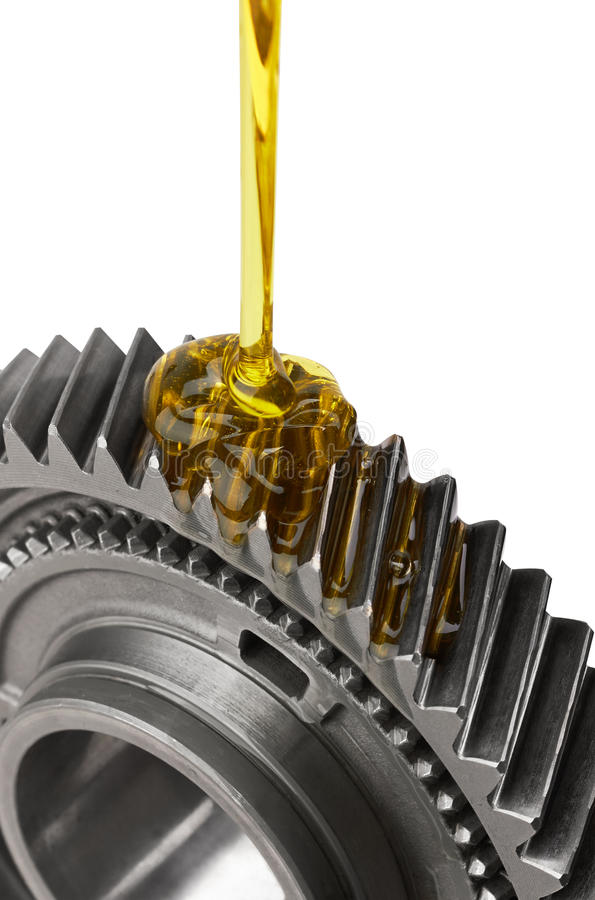 Ingranaggio di lubrificazione del metallo immagini stock