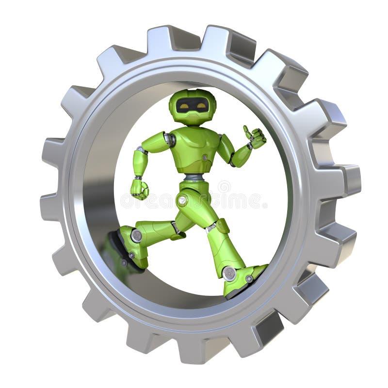 Ingranaggio interno di funzionamenti del robot royalty illustrazione gratis