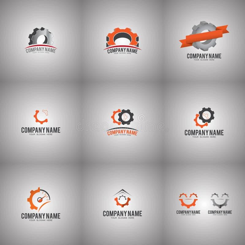Ingranaggio Logo Set illustrazione vettoriale