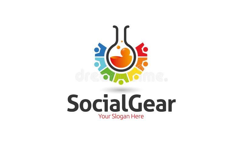 Ingranaggio sociale Logo Template illustrazione vettoriale