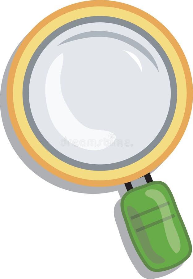 Ingrandica l'icona illustrazione vettoriale
