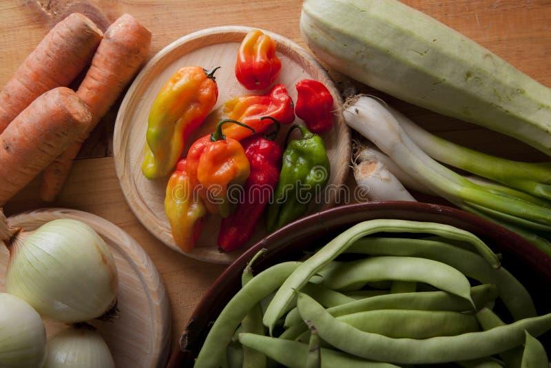 Ingrediënten om veganist of vegetarisch voedsel, gezond voedsel FO voor te bereiden royalty-vrije stock afbeeldingen