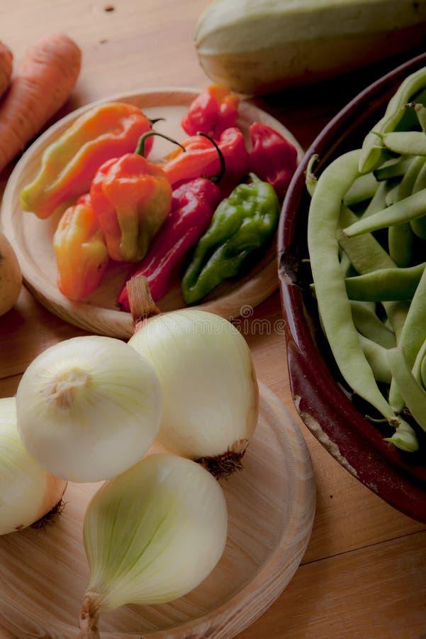 Ingrediënten om veganist of vegetarisch voedsel, gezond voedsel FO voor te bereiden royalty-vrije stock foto's