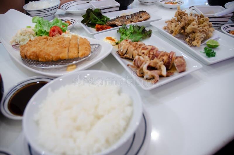Ingrediënten in restaurants royalty-vrije stock afbeelding