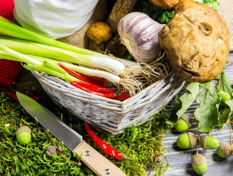 Ingrediënten van Italiaanse risotto royalty-vrije stock foto