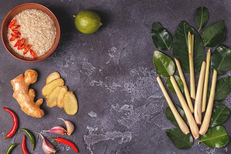 Ingrediënten van Thais kruidig voedsel royalty-vrije stock foto