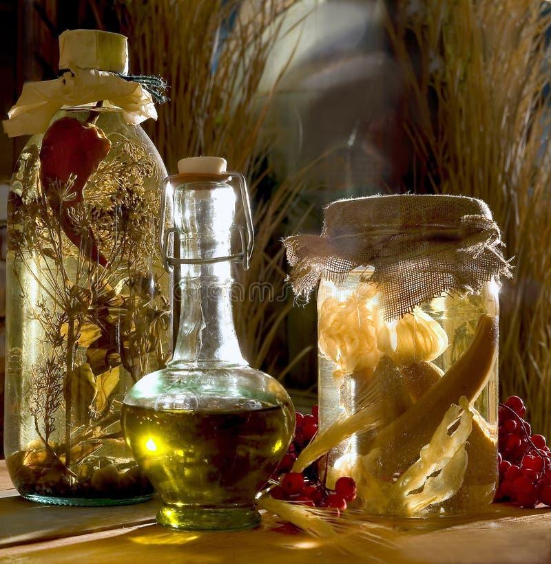 Ingrediënten voor de winter royalty-vrije stock foto's