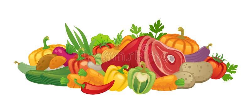 Ingrediënten voor het koken stock illustratie