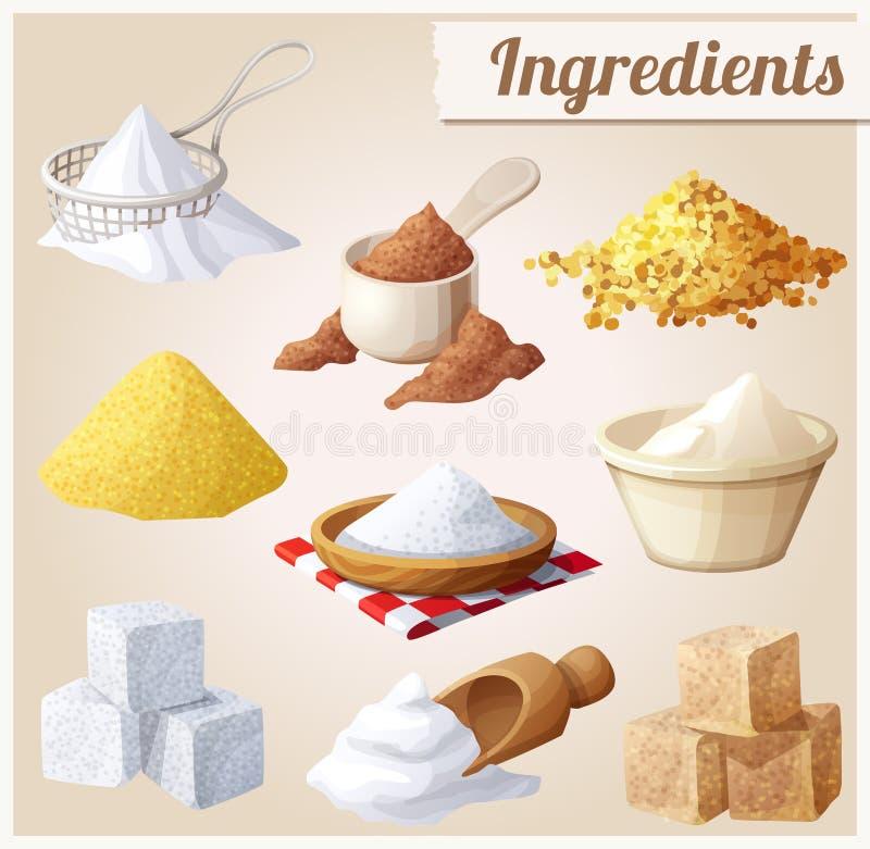 Ingrediënten voor het koken royalty-vrije illustratie