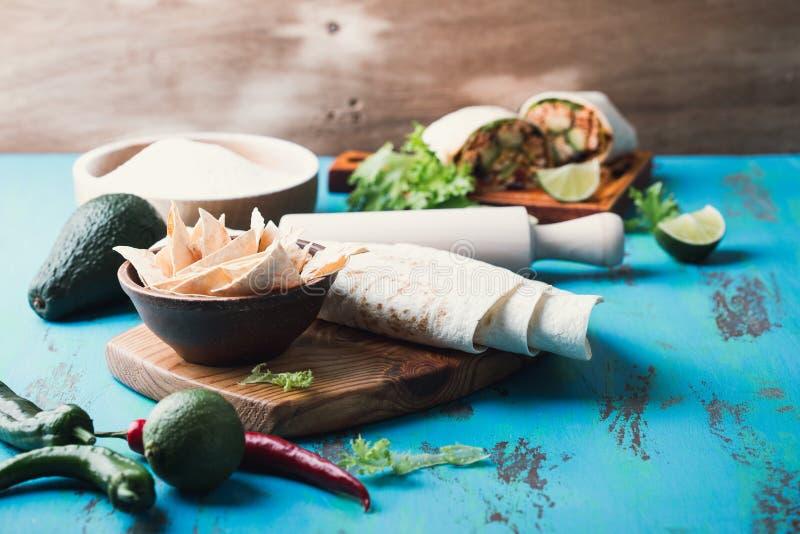 Ingrediënten voor het Mexicaanse koken royalty-vrije stock fotografie