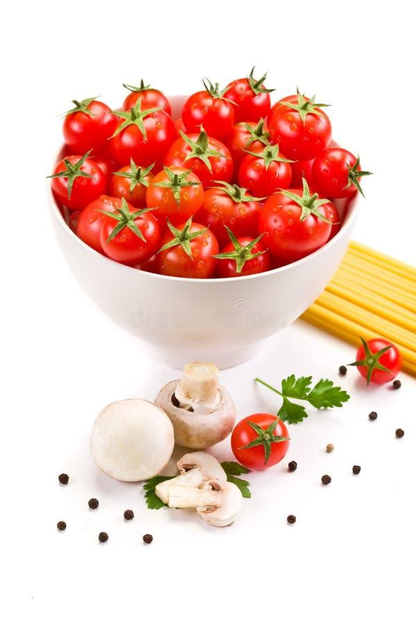 Ingrediënten voor Italiaanse Deegwaren royalty-vrije stock afbeeldingen