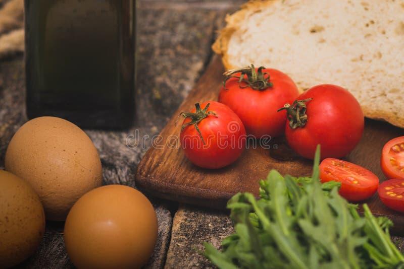Ingrediënten voor ontbijt royalty-vrije stock afbeelding