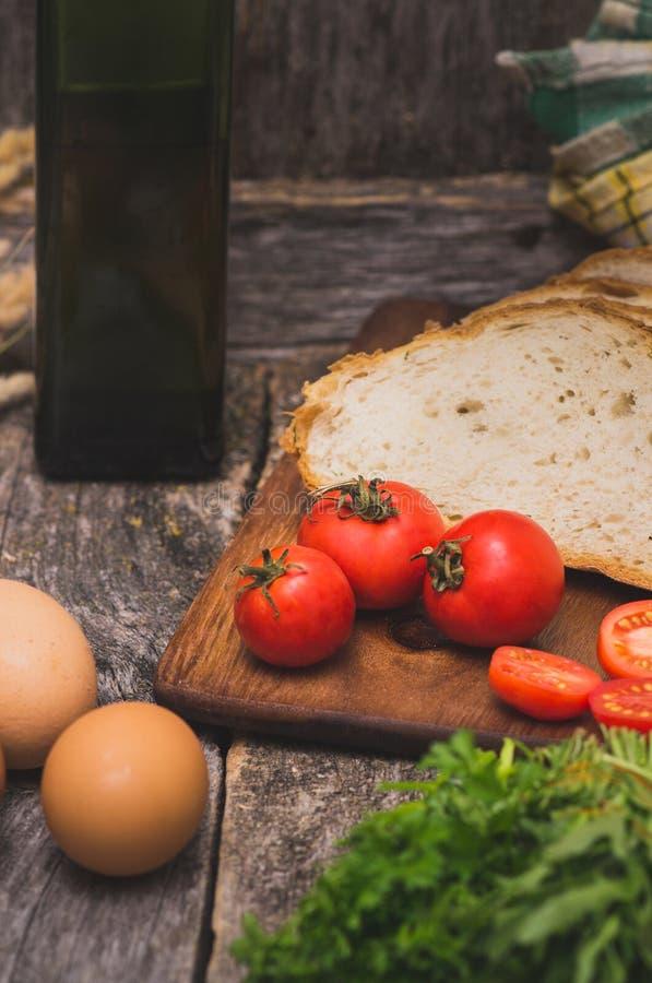 Ingrediënten voor ontbijt stock fotografie