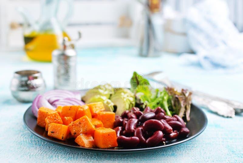 Ingrediënten voor Salade stock foto's