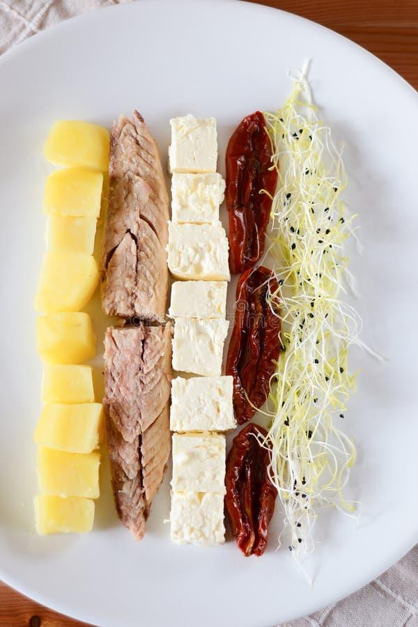 Ingrediënten voor Salade stock foto
