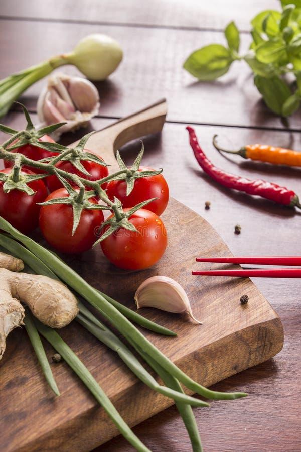Ingrediënten voor Thais voedsel, citroengras, gember, knoflook, cocktail royalty-vrije stock afbeelding