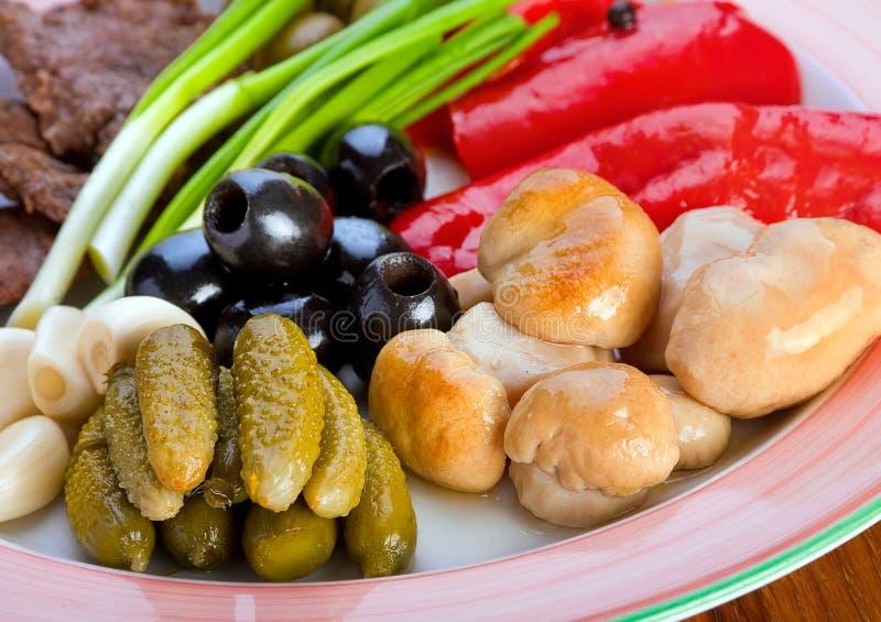 Ingrediënten voor voedselvoorbereiding stock afbeeldingen