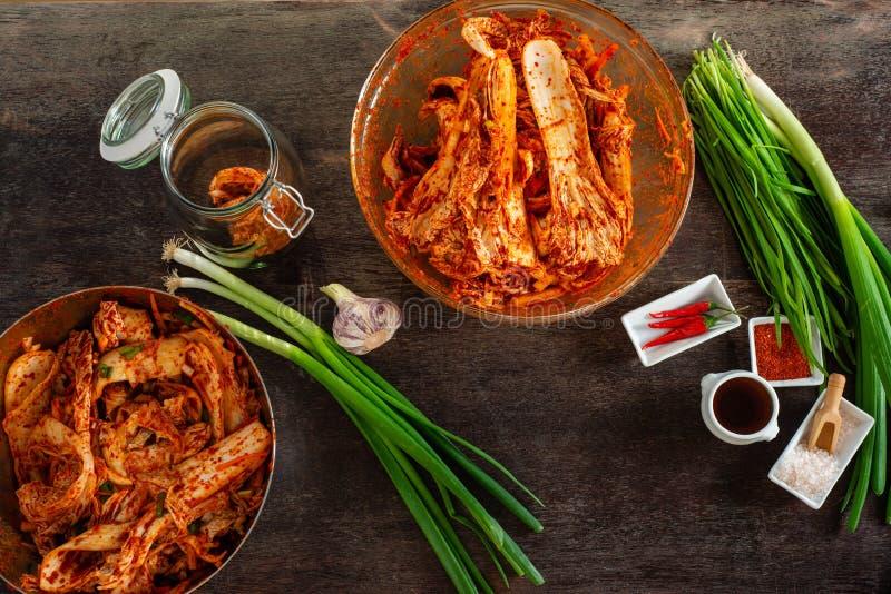 Ingredi?nten voor kimchi royalty-vrije stock afbeelding