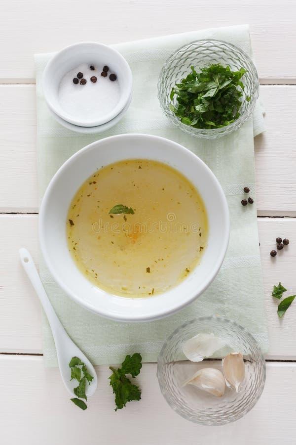 Ingredienser för en marinad arkivfoton