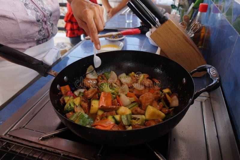 ingredienser för förberedelsen av chop sueyreceptet royaltyfri foto